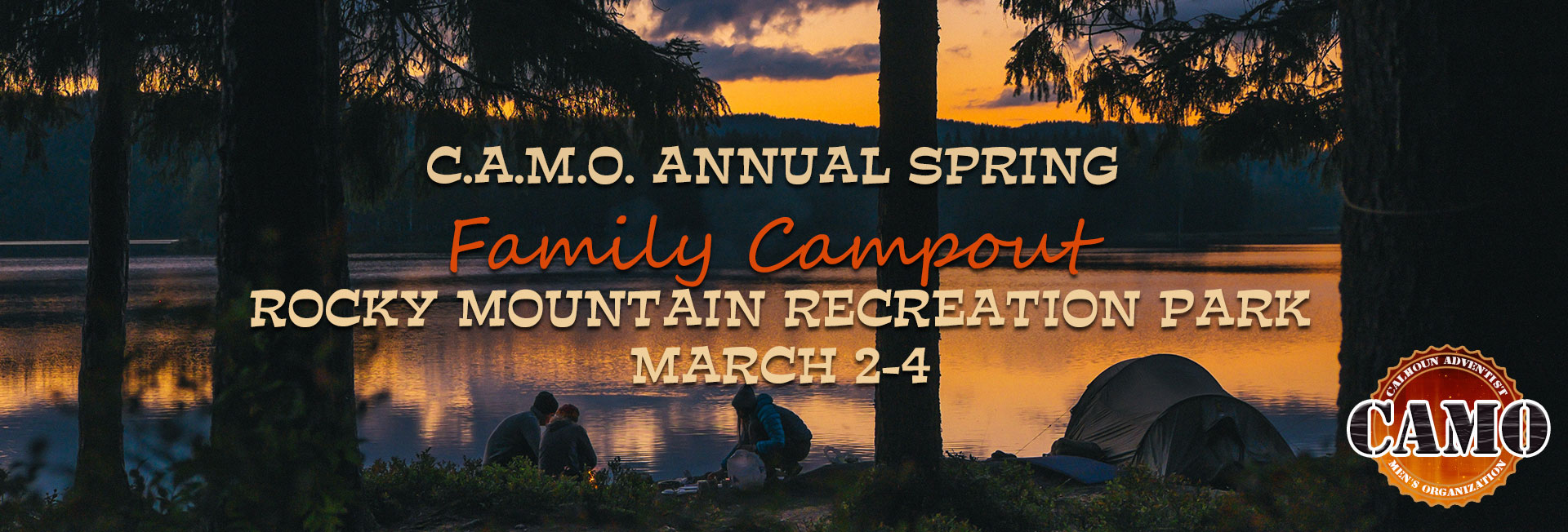 Join the Calhoun Adventist Men's Organization for their Annual Spring Family Campout March 2-4