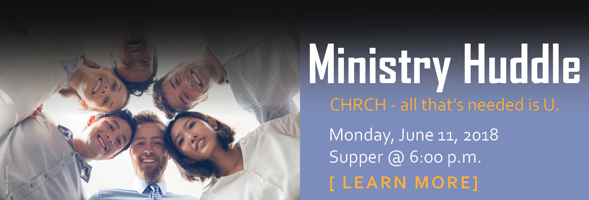 Ministry Huddle - Monday June 11 @ 6-8pm