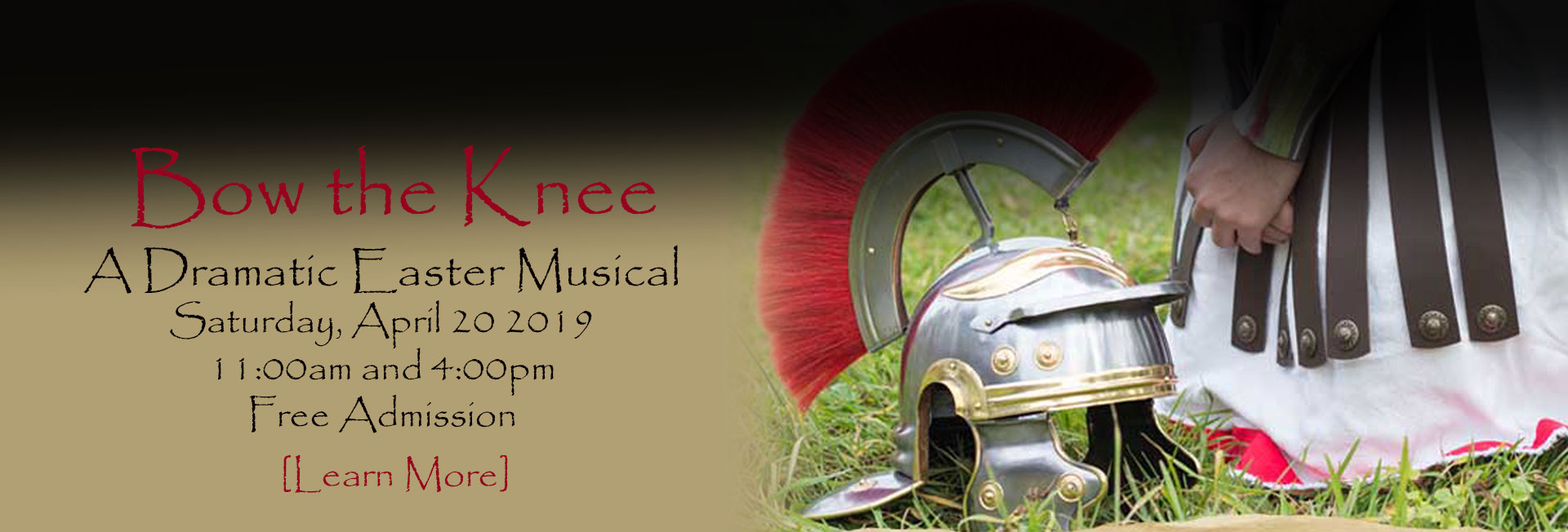 Bow the Knee - A Dramatic Easter Musical - Saturday April 20 2019 11:00am and 4:00pm